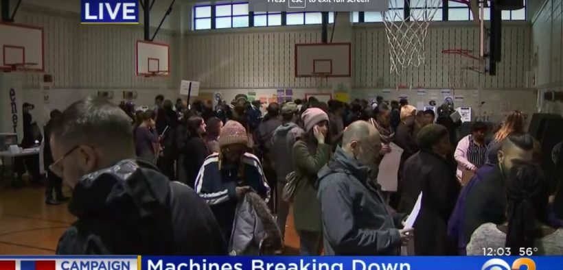 People voting in New York