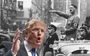 Trump Hitler side by side
