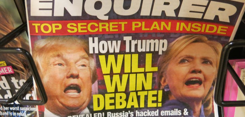 The National Enquirer admitted to paying an ex-Playboy model $150,000 to kill a story about her affair with Donald Trump. (Image via Flickr, torbakhopper)