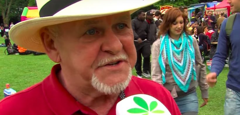 Rick Simson, the godfather of cannabis oil, was a guest at the recent Cannabis Liberation Day (Cannabis Bevrijdingsdag) in Amsterdam.