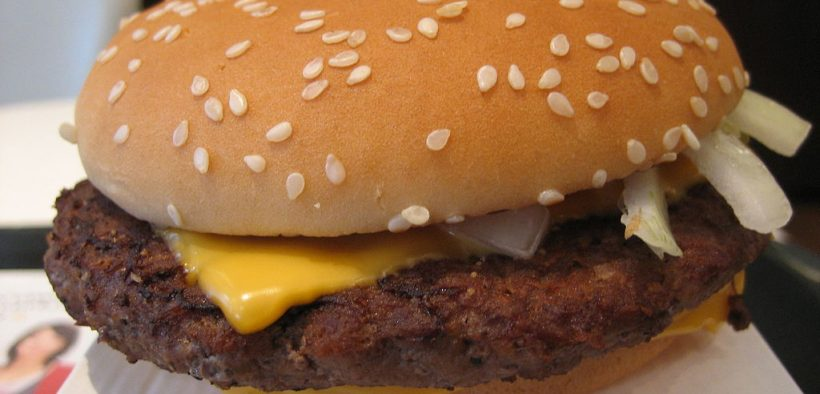 A McDonald's Quarter Pounder with Cheese.