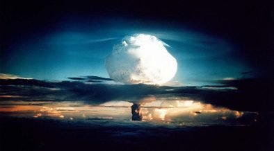 Ivy Mike, the first two-stage thermonuclear detonation, 10.4 megatons, November 1, 1952.