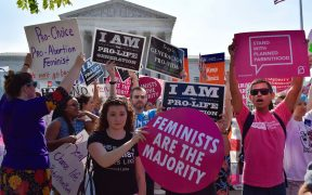 Whole Woman's Health v. Hellerstedt Pro-choice demonstration in front of SCOTUS. June, 2016.