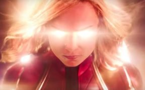 Brie Larson as Captain Marvel in Marvel's new Captain Marvel movie.