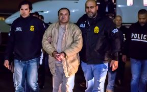 El Chapo in US custody after his extradition from Mexico.