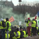 photo of Yellow Vests activists protesting in France