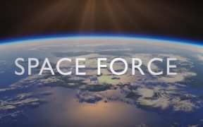screenshot from a trailer for new Netflix series 'Space Force'