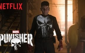 Pantalla de título de la serie The Punisher de Netflix.