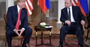 Donald Trump and Vladimir Putin meet in Helsinki. July 16, 2018.