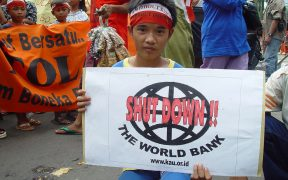 World Bank Protester, Jakarta Indonesia in 2004.