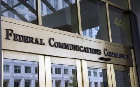outside shot of the entrance to FCC building