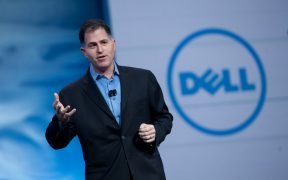 photo of Michael Dell talking on stage