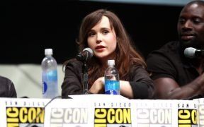 "Ellen Page speaking at the 2013 San Diego Comic Con International, for ""X-Men: Days of Future Past"", at the San Diego Convention Center in San Diego, California."