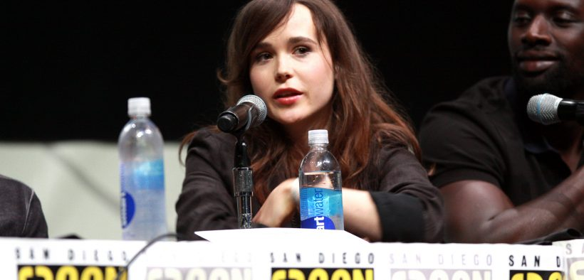 "Ellen Page falando no 2013 San Diego Comic Con Internacional, por ""X-Men: Dias do Futuro Passado"", no San Diego Convention Center, em San Diego, Califórnia."