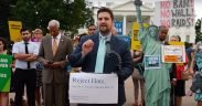 CAIR Rep Robert McCaw Joins Protest of Muslim Ban 3.0 Outside White House