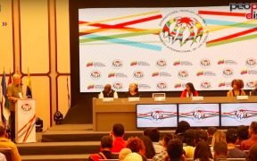More than 400 hundred delegates from working class and peoples' movements across the globe on Sunday, February 24, declared their commitment for the defence of the Bolivarian revolution against the ongoing United States backed imperialist attack. Speaking at the closing event of the first day of the assembly, Venezuelan Vice President Delcy Rodríguez said that the country will never surrender to the US diktat and with the support of the people it will overcome attack.