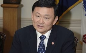 Thailand's Former Prime Minister Thaksin Shinawatra in a meeting at the Pentagon.