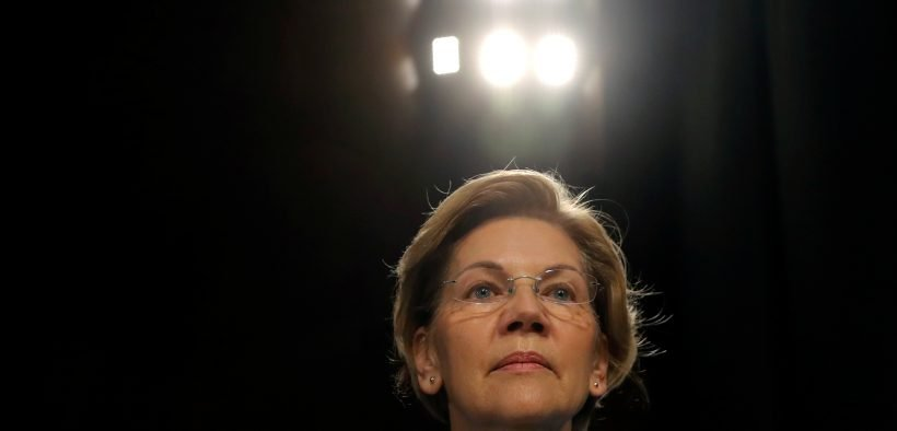"Democratic 2020 U.S. presidential candidate and U.S. Senator Elizabeth Warren (D-MA) arrives a Senate Banking and Housing and Urban Affairs Committee hearing on ""The Semiannual Monetary Policy Report to Congress"" on Capitol Hill in Washington, U.S., February 26, 2019. REUTERS/Jim Young"