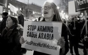 Stop Arming Saudi Arabia Protest (Photo by Alisdare Hickson)