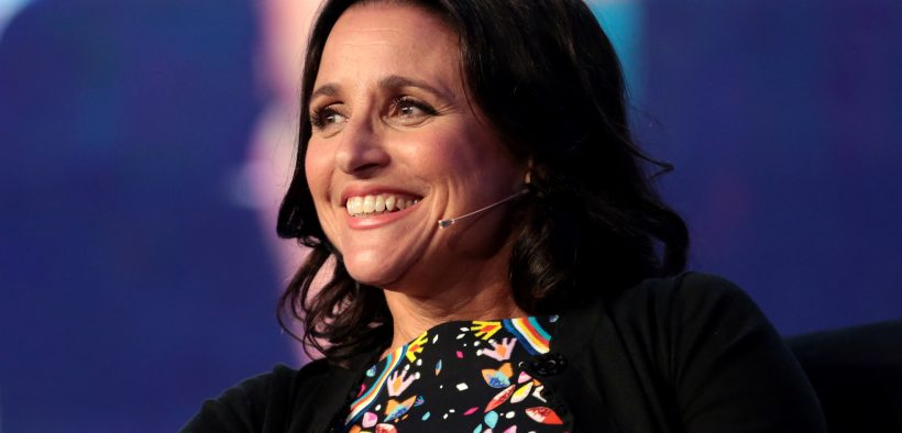 Julia Louis-Dreyfus speaking with attendees at the 2017 WorkHuman conference at the JW Marriott Phoenix Desert Ridge Resort & Spa in Phoenix, Arizona.