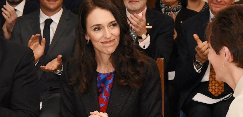 New Zealand PM-designateJacinda Ardern before the Swearing-in, 26 October 2017 (Photo via Governor-General of New Zealand)