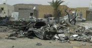 A photo released by Save the children showing the destruction after the bombing near Kitaf rural hospital. (Photo: Save the children)