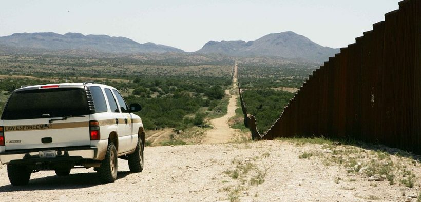 Border patrol car patroling on border