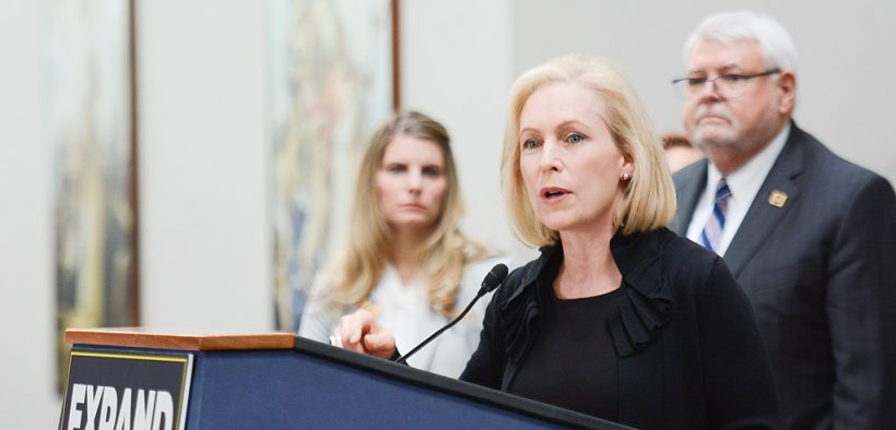 Kirsten Gillibrand at an AFGE (American Federation of Government Employees) event to discuss expanding social security. (Photo: AFGE)