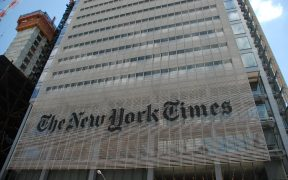 The headquarters of the New York Times. (Peter Dutton)