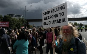 September 2017 protest in Britain of arms sales to Saudi Arabia (Photo: Alisdare Hickson)
