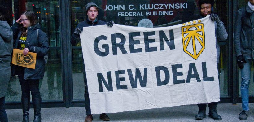 Chicago Sunrise Movement Rallies for a Green New Deal Chicago Illinois 2-27-19 6309
