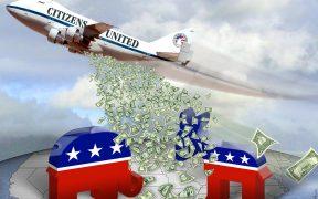 Cidadãos Unidos Carpet Bombing Democracia - Cartoon