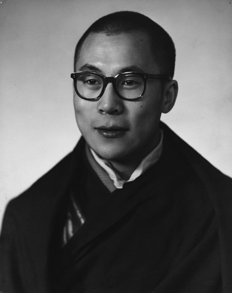 达赖喇嘛在新德里的1956(摄影:金赛兄弟)