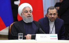 President of Iran Hassan Rouhani during the trilateral meeting of the heads of states, guarantors of the Astana process for facilitating the Syrian peace settlement.