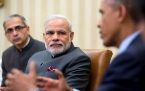 President Barack Obama talks with Prime Minister Narendra Modi of India during their bilateral meeting in the Oval Office, Sept. 30, 2014. (Official White House Photo by Pete Souza)