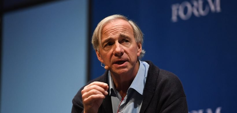 7 November 2018; Ray Dalio, Founder, Co-Chief Investment Officer & Co-Chairman, Bridgewater Associates on the Forum Stage during day two of Web Summit 2018 at the Altice Arena in Lisbon, Portugal. Photo by Harry Murphy/Web Summit via Sportsfile