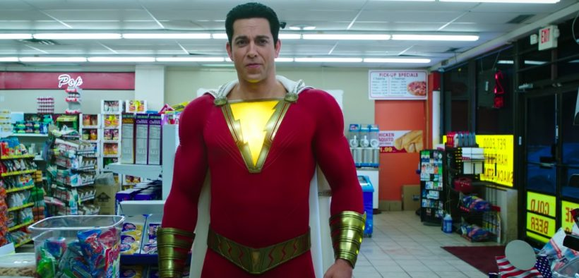 Zachary Levi stars in Shazam! which can claim to be the film industry's first multicultural superhero family (screenshot via YouTube)