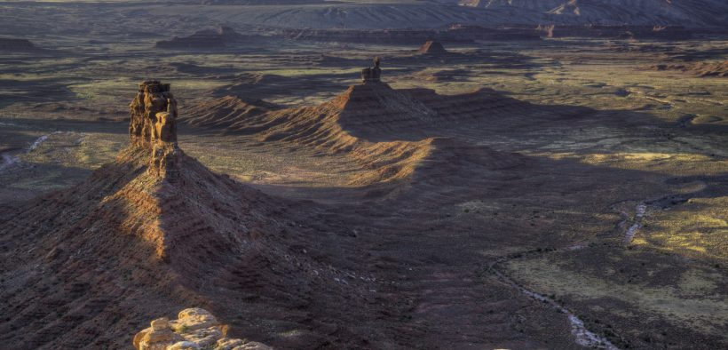 Aerial shot of the Valley of the Gods in Bears Ears National Monument. (Photo: US Bureau Land Management)