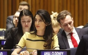 Amal Clooney, 2017 (Photo: UK Mission to the UN/Lisa Englehart)