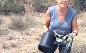 Jane is a volunteer at her local Samaritans chapter who goes on drives to drop off water and search for any immigrants in need crossing through the Arizona desert.