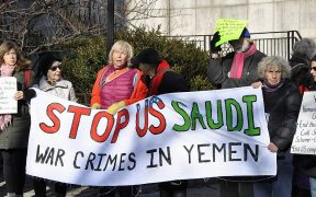 Yemen War protest 2017 (Photo via Felton Davis)