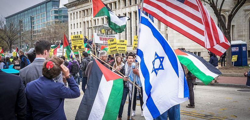 Gratis protest Palestina, Washington DC maart 26, 2017. (Foto: Ted Eytan)