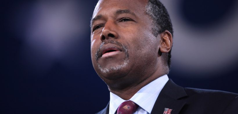 Ben Carson speaking at the 2016 Conservative Political Action Conference (CPAC) in National Harbor, Maryland.