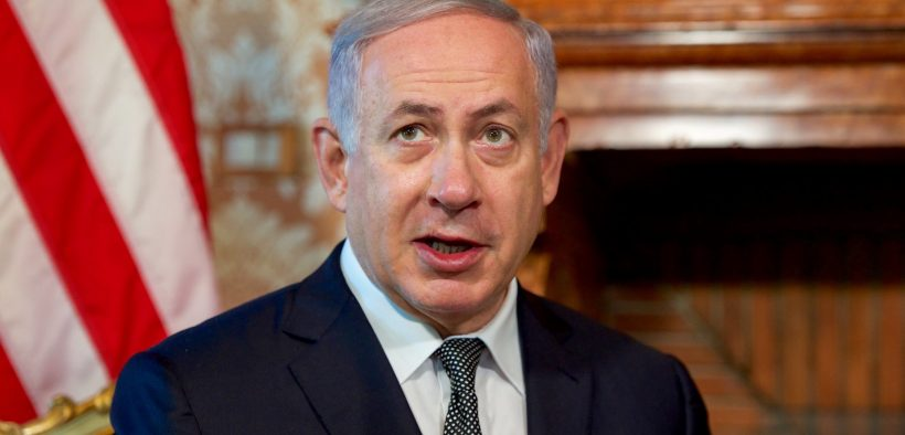 Israeli Prime Minister Benjamin Netanyahu addresses reporters on June 27, 2016, at Villa Taverna - the U.S. Ambassador's Residence in Rome, Italy - between a pair of bilateral meetings between him and U.S. Secretary of State John Kerry. [State Department photo/ Public Domain]