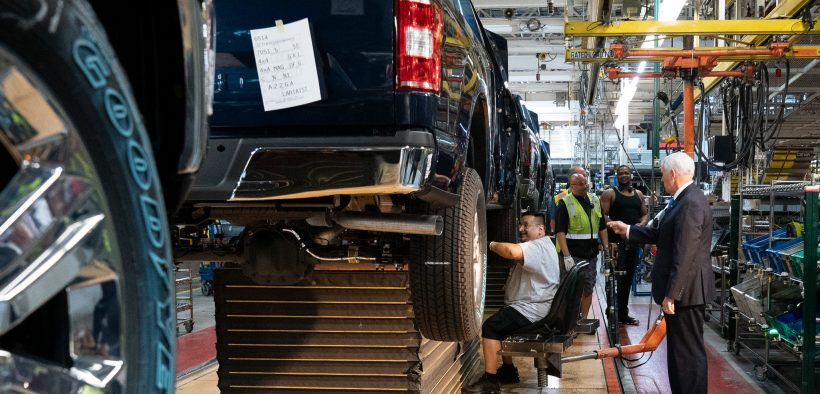 Vice President Mike Pence visits a Ford Factory in Detroit, MI Wednesday April 24, 2019 (Official White House Photo by D. Myles Cullen