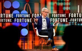 The Fortune CEO Initiative 2018 Annual Meeting June 25th, 2018 San Francisco, CA. Tim Cook, CEO, Apple in conversation with: Adam Lashinsky, Executive Editor, Fortune. (Photo: Stuart Isett/Fortune)