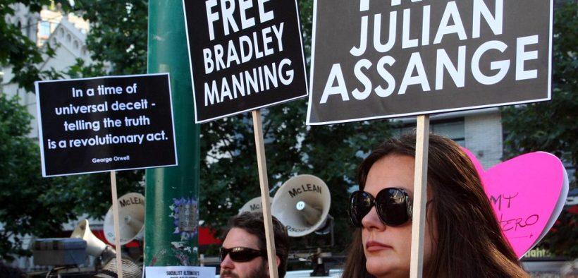 集会免费朱利安阿桑奇并支持维基解密