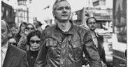 Julian Assange, anti-capitalist demonstration London, UK. (Photo: The Naked Ape)