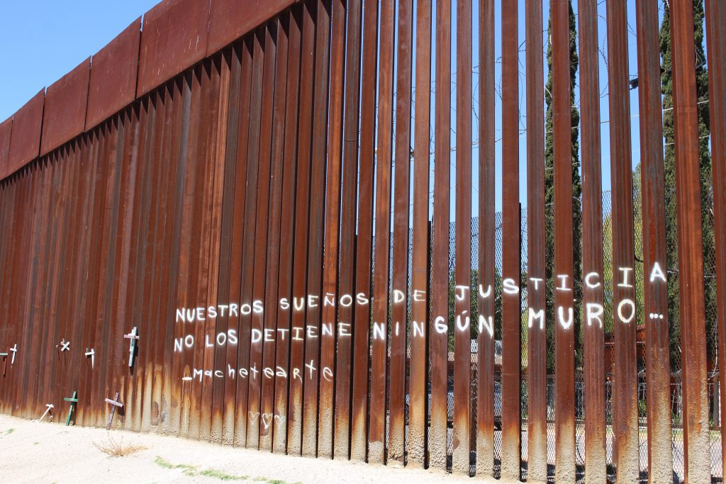 Mexico border wall writing