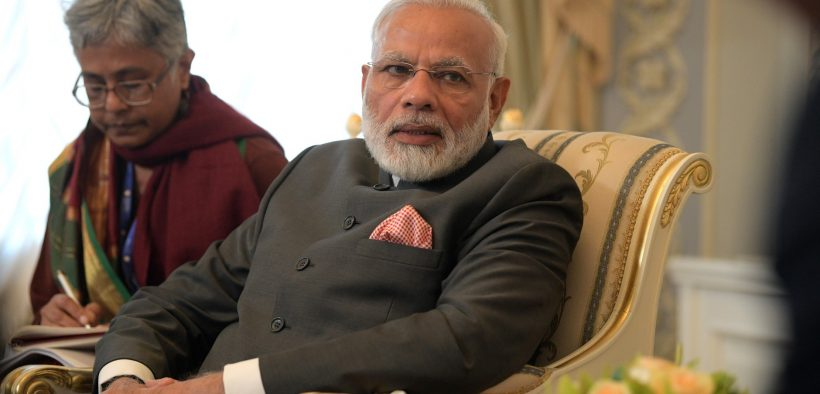 El primer ministro indio, Narendra Modi, en una reunión con el presidente ruso Vladamir Putin. (Foto: Kremlin.ru)